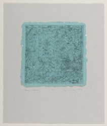 Taj Diffenbaugh Worley (American, 1947-1987). Blue Waves, 1979. Intaglio on paper, sheet: 6 1/2 x 6 1/2 in. (16.5 x 16.5 cm). Brooklyn Museum, Designated Purchase Fund, 79.231.4. © artist or artist's estate