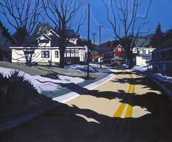 Jon Carsman (American, 1944-1987). Winter Sojourn, 1976. Acrylic on canvas, 51 x 66 1/2 in. (129.5 x 168.9 cm). Brooklyn Museum, Gift of Mr. and Mrs. Thomas K. Conner, 79.286. © artist or artist's estate