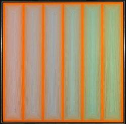 Richard Anuszkiewicz (American, born 1930). Verdification, 1970. Acrylic on canvas, 36 1/8 x 36 1/8 in.  (91.8 x 91.8 cm). Brooklyn Museum, Gift of Albert Sohn, 79.291. © artist or artist's estate