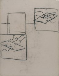 Hans Hofmann (American, 1880-1966). [Untitled] (Lecture Drawing) (Study of a Plane in Space), 1942. Charcoal on ivory, Ingres d'Arches laid paper, sheet: 25 x 19 in. (63.5 x 48.3 cm). Brooklyn Museum, Gift of Jerome Burns, 79.38.1. © artist or artist's estate