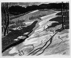 James D. Havens (American, 1900-1960). Drift in Spring, 1944. Woodcut, Sheet: 12 7/8 x 14 15/16 in. (32.7 x 38 cm). Brooklyn Museum, Gift of Norman and June Kraeft, 80.221. © artist or artist's estate