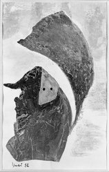 Katsura Yukiko (Japanese, born 1913). [Untitled], ca. 1955. Gouache on paper, Image: 9 x 5 5/8 in. (22.9 x 14.3 cm). Brooklyn Museum, Gift of Dr. Hugo Munsterberg, 80.43.3. © artist or artist's estate
