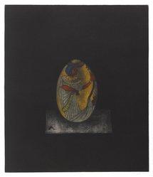 Yokoi Tomoe (Japanese). Egg, 1978. Mezzotint on paper Brooklyn Museum, Gift of H.M.K. Fine Arts, Inc., 80.48.10. © artist or artist's estate