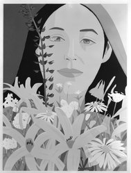 Alex Katz (American, born 1927). Ada With Flowers, 1981. Color screenprint, 48 x 36 in. (121.9 x 91.4 cm). Brooklyn Museum, Purchased with funds given by various donors in memory of Daniel I. Mincer, 81.162. © artist or artist's estate
