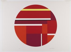 Ilya Bolotowsky (American, born Russia, 1907-1981). Red Tondo, 1979. Serigraph on paper, Sheet: 22 1/4 x 30 in. (56.5 x 76.2 cm). Brooklyn Museum, Gift of R. Michael Heidenberg, 81.19.2. © artist or artist's estate
