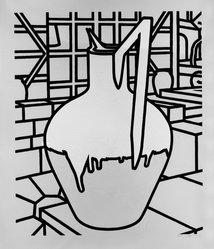 Patrick Caulfield (British, 1936-2005). Jug, n.d. Serigraph on wove paper Brooklyn Museum, Gift of James W. Dye, 81.224.5. © artist or artist's estate