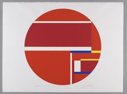 Ilya Bolotowsky (American, born Russia, 1907-1981). Untitled, 1979. Screenprint on paper, Circle: 22 1/8 x 29 5/8 in. (56.2 x 75.2 cm). Brooklyn Museum, Gift of Dr. and Mrs. Kenneth Lawrence, 81.237.3. © artist or artist's estate