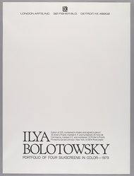 Ilya Bolotowsky (American, born Russia, 1907-1981). Combined Title and Colophon Page, 1979. Screenprint Brooklyn Museum, Gift of Dr. and Mrs. Kenneth Lawrence, 81.237.5. © artist or artist's estate