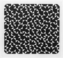 Anni Albers (American, 1899-1994). Triangulated Intaglios I, 1976. Etching, aquatint on paper, Sheet: 24 x 20 in. (61 x 50.8 cm). Brooklyn Museum, Gift of Studebaker-Worthington, Inc., 81.24.2. © artist or artist's estate