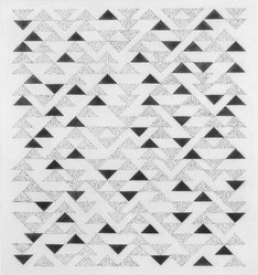 Anni Albers (American, 1899-1994). Triangulated Intaglios VI, 1976. Etching, aquatint on paper, Sheet: 24 x 20 in. (61 x 50.8 cm). Brooklyn Museum, Gift of Studebaker-Worthington, Inc., 81.24.3. © artist or artist's estate