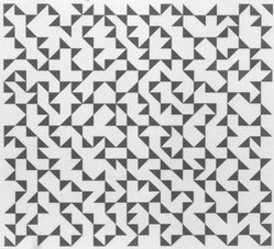 Anni Albers (American, 1899-1994). Triangulated Intaglios II, 1976. Etching, aquatint on paper, Sheet: 24 x 20 in. (61 x 50.8 cm). Brooklyn Museum, Gift of Studebaker-Worthington, Inc., 81.24.4. © artist or artist's estate