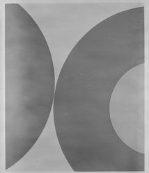 Nassos Daphnis (American). Untitled, 1 from a Suite of 3, 1980. Screenprint, Sheet: 32 15/16 x 38 3/16 in. (83.6 x 97 cm). Brooklyn Museum, Gift of Irwin Shubert, 81.243.12.2. © artist or artist's estate