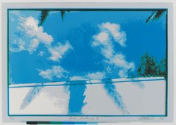 Richard Steinmetz (American, born 1947). Florida Cloudscape I, 1976. Serigraph Brooklyn Museum, Designated Purchase Fund, 81.254.1. © artist or artist's estate