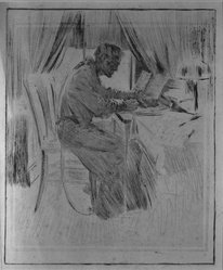 Haydon Jones (American, 1870-1953). [Untitled], n.d. Soft ground, drypoint and aquatint, Sheet: 22 1/16 x 17 11/16 in. (56 x 44.9 cm). Brooklyn Museum, Gift of  Dr. and Mrs. Harold C. Menger, 82.149.8. © artist or artist's estate