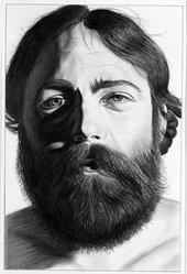 James Torlakson (American, born 1951). Self Portrait IV, January 13, 1982. Graphite on paper, image: 15 1/16 x 10 1/16 in. (38.3 x 25.5 cm). Brooklyn Museum, Designated Purchase Fund, 82.153. © artist or artist's estate