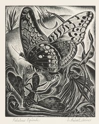 Ernest Hubert Deines (American, 1894-1967). Fabulous Episode, ca. 1945. Wood engraving Brooklyn Museum, Gift of Mr. and Mrs. Peter P. Pessutti, 82.204.1. © artist or artist's estate
