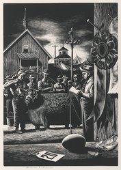 Stevan Dohanos (American, 1907-1994). State Fair, n.d. Wood engraving, Sheet: 17 3/8 x 13 in. (44.2 x 33 cm). Brooklyn Museum, Gift of Mr. and Mrs. Peter P. Pessutti, 82.204.3. © artist or artist's estate