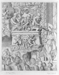 Reginald Marsh (American, 1898-1954). Eltinge Follies, 1940. Engraving on paper, Sheet: 16 15/16 x 14 in. (43 x 35.6 cm). Brooklyn Museum, Gift of Mr. and Mrs. Peter P. Pessutti, 82.204.6. © artist or artist's estate
