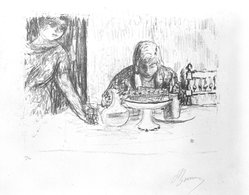 Pierre Bonnard (French, 1867-1947). La Coupe et Le Compotier, 1925. Lithograph, Sheet: 12 3/4 x 19 1/2 in.  (32.4 x 49.5 cm);. Brooklyn Museum, Gift of Dr. and Mrs. Theodore Kamholtz, 82.251.1. © artist or artist's estate