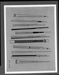 Attilio Salemme (American, 1911-1955). Tools of the Artist, n.d. Pen and ink on paper mounted to paper and matboard, image: 8 3/16 x 9 5/8 in. (20.8 x 24.5 cm). Brooklyn Museum, Gift of Mr. and Mrs. Morton Ostrow, 82.253.4. © artist or artist's estate