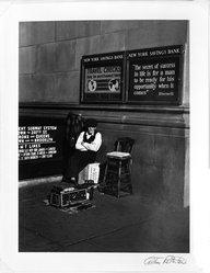 Arthur Rothstein (American, 1915-1985). Shoeshine man, New York City, 1937. Gelatin silver photograph Brooklyn Museum, Gift of Robert Smith, 82.256.16. © artist or artist's estate