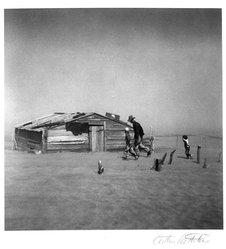 Arthur Rothstein (American, 1915-1985). Dust storm, Cimarron County, Oklahoma, 1936. Gelatin silver photograph, Sheet: 14 1/16 x 11 in. (35.7 x 27.9 cm). Brooklyn Museum, Gift of Robert Smith, 82.256.5. © artist or artist's estate