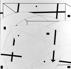 Al Held (American, 1928-2005). Solar Wind III, 1974. Acrylic on canvas, 83 7/8 x 84 1/8 in. (213 x 213.7 cm). Brooklyn Museum, Anonymous gift, 82.83. © artist or artist's estate