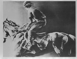 Marsha Feigin (American, born 1946). Horse and Rider, 1982. Aquatint in brown ink Brooklyn Museum, Gift of the Community Committee of the Brooklyn Museum, 82.90.1. © artist or artist's estate