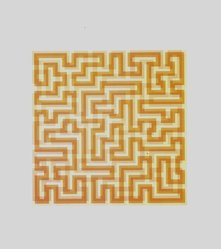 Anni Albers (American, 1899-1994). Orange Meander, 1970. Serigraph on paper, Image: 16 1/2 x 16 1/2 in. (41.9 x 41.9 cm). Brooklyn Museum, Gift of the artist, 83.34. © artist or artist's estate