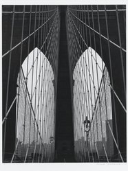 Frank Spadarella (American, born 1925). Brooklyn Bridge Arches, 1980. Gelatin silver photograph Brooklyn Museum, Gift of Ida and Frank Spadarella, 83.78.2. © artist or artist's estate