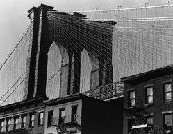 Donald Burns (American, born 1919). Brooklyn Bridge, 1981. Gelatin silver photograph, image: 15 1/4 x 19 1/2 in. (38.7 x 49.5 cm). Brooklyn Museum, Gift of the artist, 83.7. © artist or artist's estate