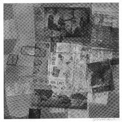 Robert Rauschenberg (American, 1925-2008). Surface Series #50, 1970. Hand-printed screenprint on paper, 35 x 35 in. (88.9 x 88.9 cm). Brooklyn Museum, Gift of Mr. and Mrs. Dennis Berman, 84.151.5. © artist or artist's estate
