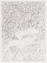 David Kremgold (American, born 1944). The Figure in Landscape, 1984. Lithograph on white wove paper, Sheet: 14 3/8 x 12 1/4 in. (36.5 x 31.1 cm). Brooklyn Museum, Gift of Ronald T. Kraver, 84.228.3. © artist or artist's estate