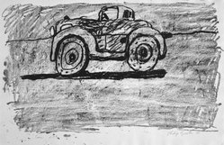 Philip Guston (American, born Canada, 1913-1980). Car, 1980. Lithograph on soft, handmade, white paper, Sheet: 20 1/16 x 30 3/8 in. (51 x 77.1 cm). Brooklyn Museum, Gift of Mr. and Mrs. David McKee, 84.233.1. © artist or artist's estate