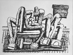 Philip Guston (American, born Canada, 1913-1980). Room, 1980. Lithograph on white wove paper, Sheet: 32 11/16 x 39 15/16 in. (83 x 101.5 cm). Brooklyn Museum, Gift of Mr. and Mrs. David McKee, 84.233.2. © artist or artist's estate