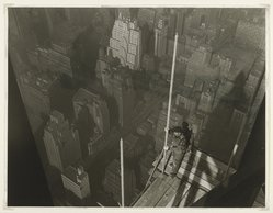 Lewis Wickes Hine (American, 1874-1940). Raising the Mast,  Empire State Building, 1931. Gelatin silver photograph, image: 13 1/2 x 10 1/2 in.  (34.3 x 26.7 cm). Brooklyn Museum, Gift of Walter and Naomi Rosenblum, 84.237.10. © artist or artist's estate