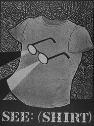 Calvin Reid. See-Shirt, 1983. Lithograph on paper, sheet (image): 20 1/8 x 15 1/16 in. (51.1 x 38.3 cm). Brooklyn Museum, Gift of the Printmaking Workshop in honor of Una E. Johnson, 84.307.10. © artist or artist's estate