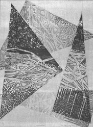 P.F. Christofides. Momentum, 1983. Intaglio, Sheet (image): 20 1/8 x 15 1/16 in. (51.1 x 38.3 cm). Brooklyn Museum, Gift of the Printmaking Workshop in honor of Una E. Johnson, 84.307.3. © artist or artist's estate