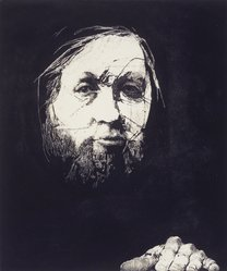 Charles Wells (American, born 1935). Walt Whitman, n.d. Etching on paper, sheet: 26 1/4 x 19 1/4 in. (66.7 x 48.9 cm). Brooklyn Museum, Gift of IBM Gallery of Science and Art, 85.187.50. © artist or artist's estate