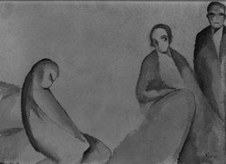 Beatrice Wood (American, 1894-1998). The Forsaken Wife, 1925. Watercolor on paper, sheet: 6 7/8 x 9 15/16 in. (17.5 x 25.2 cm). Brooklyn Museum, Gift of Francis N. Naumann, 85.271.1. © artist or artist's estate
