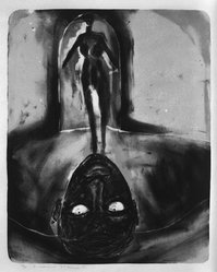 Francesco Clemente (Italian, born 1952). Untitled, 1984. Lithograph, Image: 20 x 16 in. (50.8 x 40.7 cm). Brooklyn Museum, Purchased with funds given by the Louis Comfort Tiffany Foundation, 85.52. © artist or artist's estate