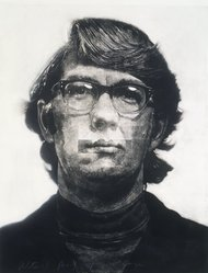 Chuck Close (American, born 1940). Keith, 1972. Mezzotint with collage and white gouache on paper, Sheet: 52 x 42 in. (132.1 x 106.7 cm). Brooklyn Museum, Gift of Mr. and Mrs. Henry Welt, 86.219. © artist or artist's estate