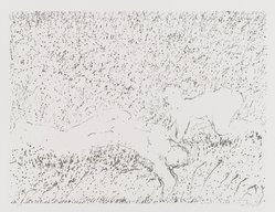 David Kremgold (American, born 1944). The Figure in Landscape, 1984. Lithograph on white wove paper, Sheet: 12 3/8 x 14 5/16 in. (31.5 x 36.4 cm). Brooklyn Museum, Gift of Ronald T. Kraver, 84.228.2. © artist or artist's estate