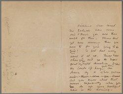 John Singer Sargent (American, 1856-1925). Letter to Kathlene MacDonell, n.d. Ink on paper, Sheet (unfolded): 6 7/8 x 8 15/16 in. (17.5 x 22.7 cm). Brooklyn Museum, Gift of Mr. and Mrs. Wilbur L. Ross, Jr., 86.281.3. © artist or artist's estate