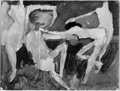 Emilio Cruz (American, born 1938). Untitled, 1962. Oil on paper mounted on foam-core, 17 3/4 x 23 3/4 in. (45.1 x 60.3 cm). Brooklyn Museum, Gift of Virginia M. Zabriskie, 86.282. © artist or artist's estate