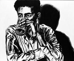 Ken Goodman. Drinker I, 1982. Oil on canvas, 84 x 84 in. (213.4 x 213.4 cm). Brooklyn Museum, Gift of Michael Klein, 87.134.2. © artist or artist's estate