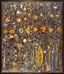 Richard Pousette-Dart (American, 1916-1992). Amaranth, 1958. Oil on canvas, Historic dimensions: 75 3/4 x 64 3/4 in. (192.4 x 164.5 cm). Brooklyn Museum, Gift of Dr. and Mrs. Arthur E. Kahn, 87.239. © artist or artist's estate
