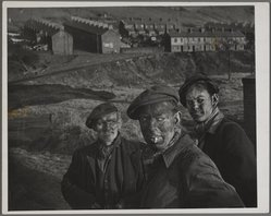 W. Eugene Smith (American, 1918-1978). Three Generations of Welsh Miners, 1950. Gelatin silver photograph, sheet: 11 1/16 x 13 7/8 in. (28.1 x 35.2 cm). Brooklyn Museum, Gift of Philip Goutell, 87.245.57. © W. Eugene Smith
