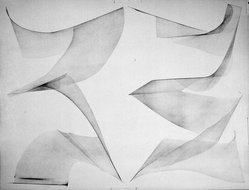 Blythe Bohnen (American, born 1940). Untitled Drawing, 1972. Graphite on paper, 45 x 35 in. (114.3 x 88.9 cm). Brooklyn Museum, Gift of Alan Sonfist, 87.250.2. © artist or artist's estate