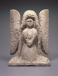 William Edmondson (American, 1874-1951). Angel, n.d. Limestone, 18 1/2 x 13 1/2 x 7 in. (47.0 x 34.3 x 17.8 cm). Brooklyn Museum, Gift of Mr. and Mrs. Alastair B. Martin, the Guennol Collection, 87.28. © artist or artist's estate